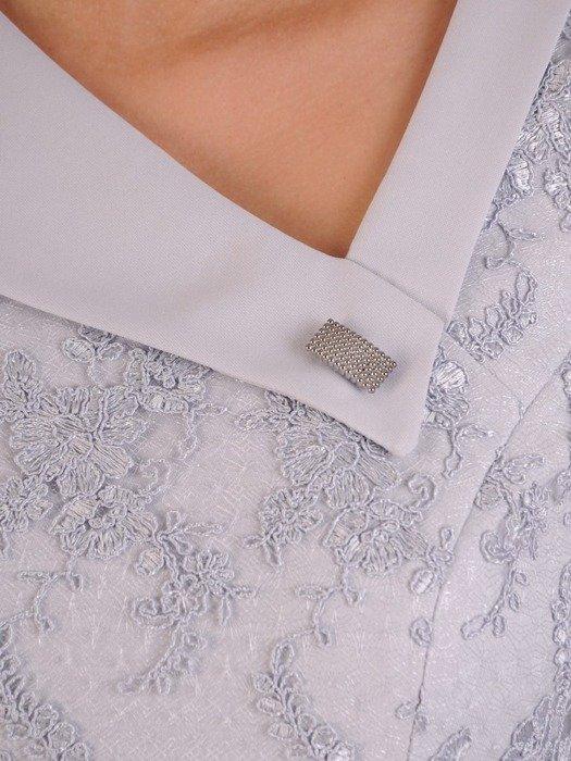Sukienka na wesele, elegancka kreacja z koronki i tkaniny 25883