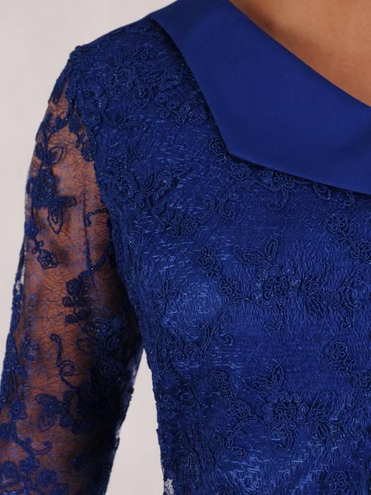Sukienka na wesele, elegancka kreacja z koronki i tkaniny 26308