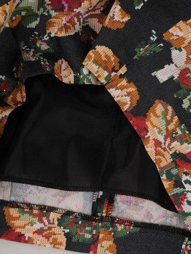 Sukienka tuba Mirona LVIII, wyszczuplająca kreacja maskująca brzuch.
