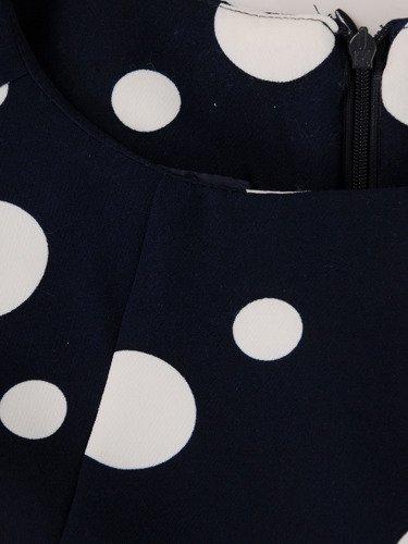 Sukienka tuba Mirona LX, wyszczuplająca kreacja maskująca brzuch.