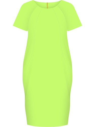 Sukienka tuba Mirona XI, wyszczuplająca kreacja maskująca brzuch.