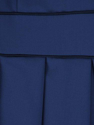 Sukienka tulipanowa Elsa I, niebieska kreacja z ozdobnymi marszczeniami.
