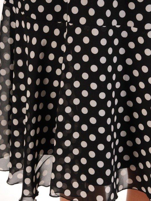 Sukienka w grochy, zwiewna kreacja z szyfonu 26073