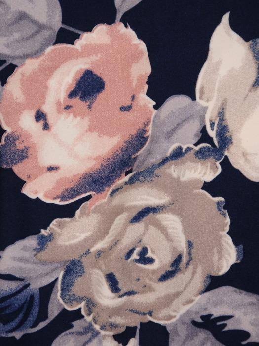 Sukienka w kwiaty, elastyczna kreacja z dzianiny 20496.
