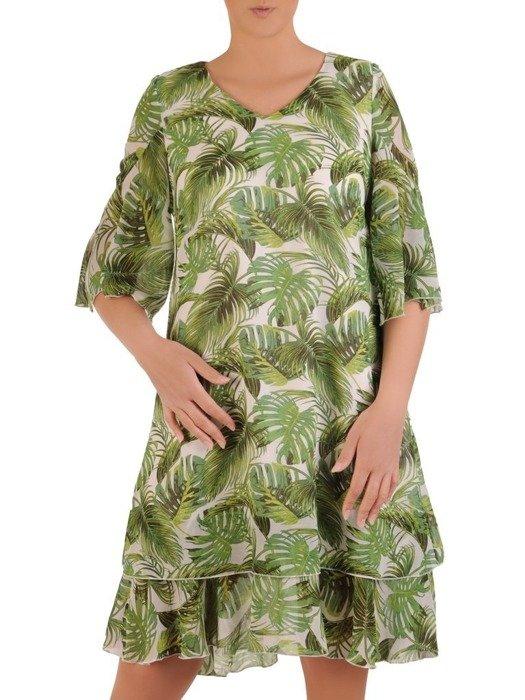 Sukienka w luźnym fasonie, zwiewna kreacja na lato 26088