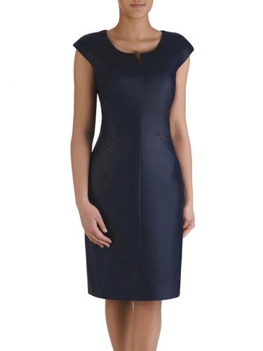 Sukienka w nowoczesnym stylu Lesedi III, jesienna kreacja ze skóry ekologicznej