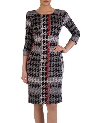 Sukienka w pepitkę Marzanna I, wzorzysta kreacja na jesień.