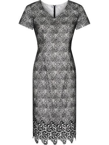 Sukienka wieczorowa Dżasmina, elegancka kreacja z koronki.
