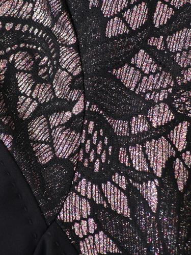 Sukienka wieczorowa z wyszczuplającą, ozdobną wstawką Irmina.