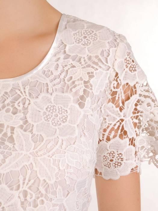 Sukienka wizytowa, elegancka kreacja z koronki 30210