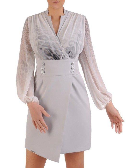 Sukienka wyjściowa, elegancka kreacja z luźnymi rękawami 25778
