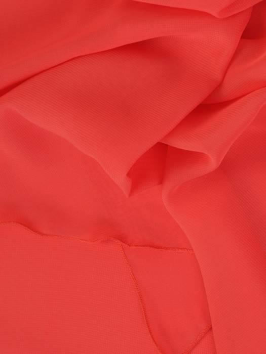 Sukienka wyjściowa, koralowa kreacja w asymetrycznym fasonie 26342