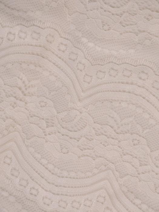 Sukienka wyjściowa, koronkowa kreacja z kontrastowymi wstawkami 20884.