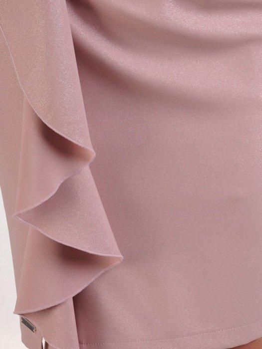 Sukienka wyjściowa, kreacja z ozdobnymi falbanami 25108