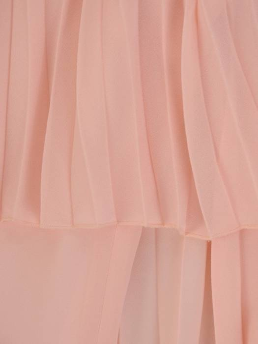 Sukienka wyjściowa, pudrowa kreacja w nowoczesnym fasonie 26407
