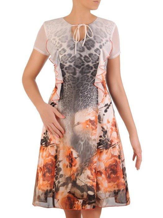 Sukienka wyjściowa, zwiewna kreacja z szyfonu 26175