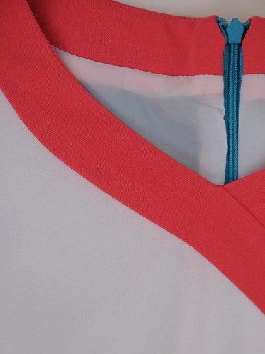 Sukienka wyszczuplająca Gracjana IX, wiosenna kreacja z tkaniny.