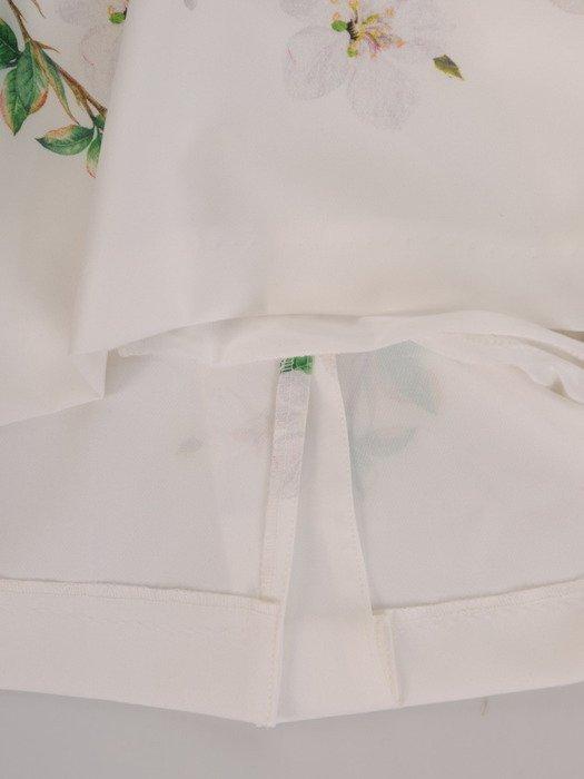 Sukienka wyszczuplająca, wiosenna kreacja z tkaniny i szyfonu 20146.