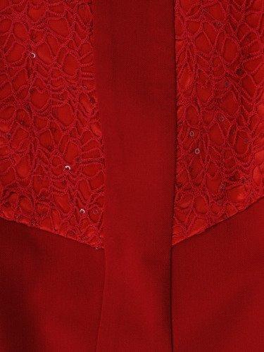 Sukienka z błyszczącej koronki Małgorzata III, wyszczuplająca kreacja wieczorowa.