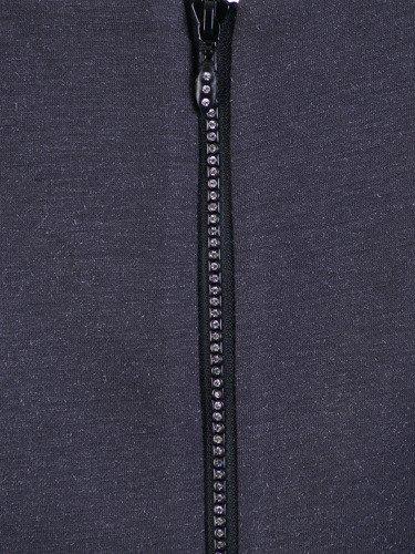 Sukienka z cyrkoniami Tomira, grafitowa kreacja z ozdobnym suwakiem