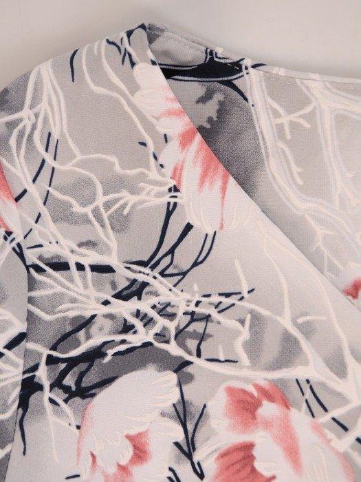 Sukienka z dzianiny, prosta kreacja w oryginalnym wzorze 26208