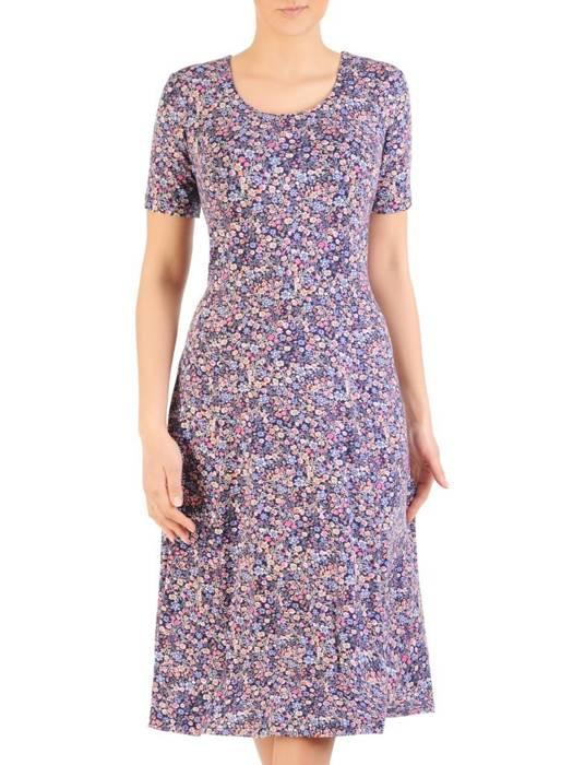 Sukienka z dzianiny, rozkloszowana kreacja damska 28586