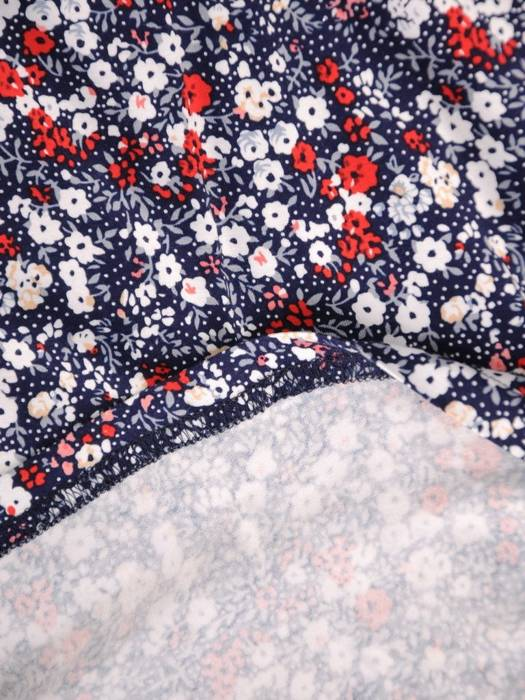 Sukienka z dzianiny, rozkloszowana kreacja w kwiaty 30439