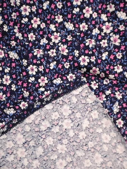 Sukienka z dzianiny, rozkloszowana kreacja w kwiaty 30440