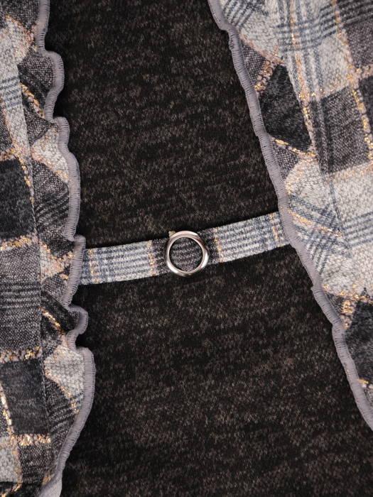 Sukienka z imitacją żakietu, wyszczuplająca kreacja z dzianiny 30681