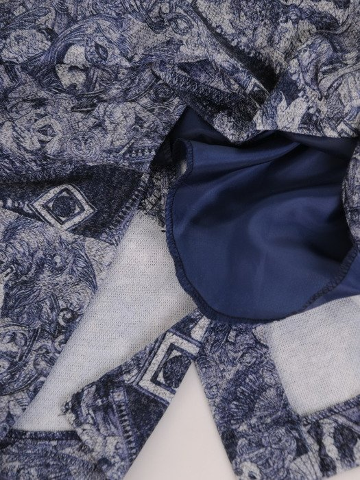 Sukienka z kominem Krystyna XIII, jesienna kreacja w oryginalnym wzorze.