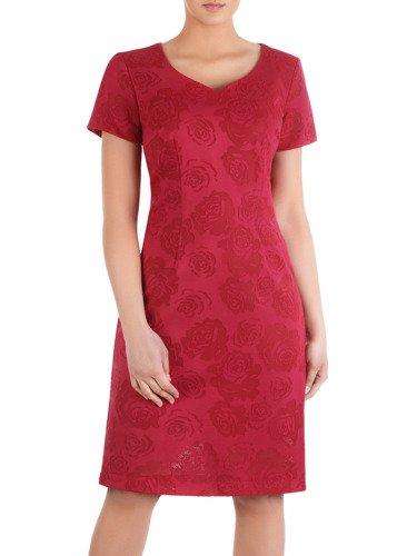 Sukienka z koronki Agnes II, kreacja wizytowa w róże.