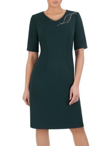 Sukienka z koronkową aplikacją przy dekolcie Helenita I.