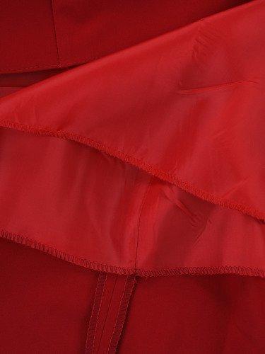 Sukienka z koronkowymi rękawami Ernesta II, trapezowa kreacja wieczorowa