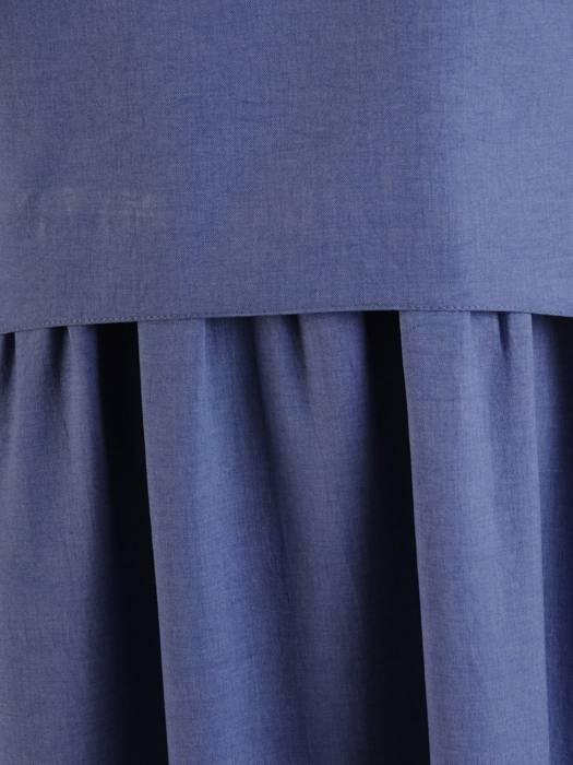 Sukienka z lnu, letnia kreacja w luźnym fasonie (dłuższa wersja) 26421