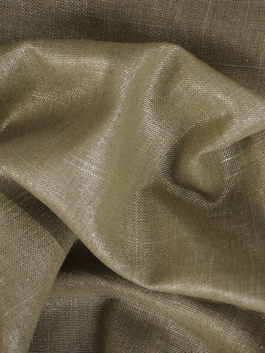 Sukienka z lnu, oliwkowa kreacja z delikatnym połyskiem 20749.