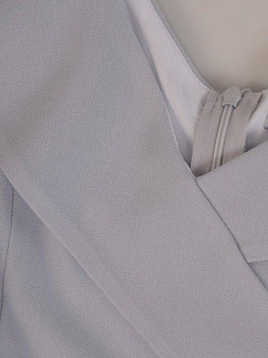 Sukienka z modnym kołnierzem, kreacja z szyfonowymi dołem 25343