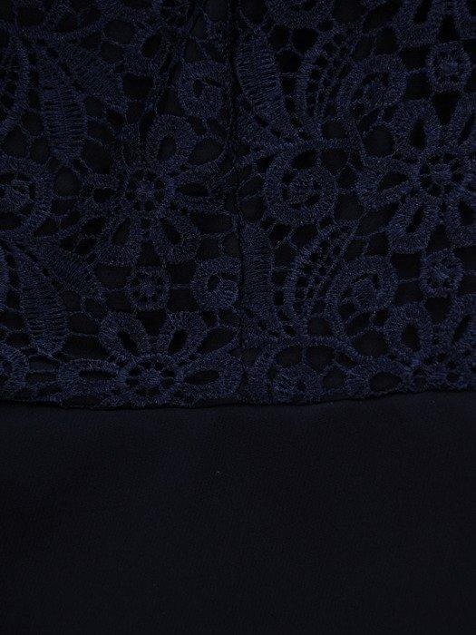 Sukienka z podwójną baskinką, elegancka kreacja wizytowa 16887