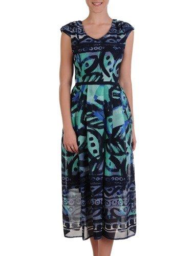 Sukienka z szyfonu 16548, zwiewna kreacja w kwiaty.