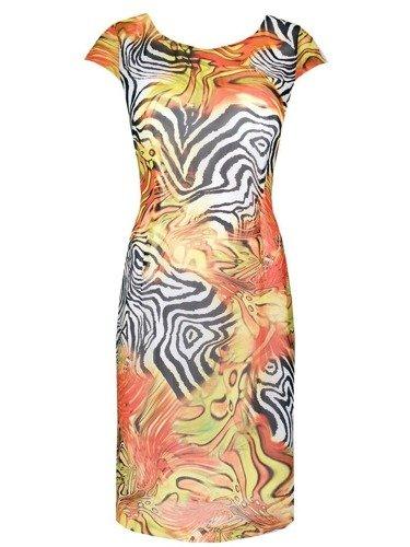 Sukienka z szyfonu Kristin IX, zwiewna kreacja na lato.