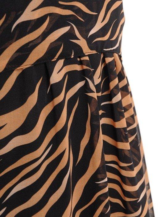 Sukienka z szyfonu, kreacja w oryginalnym wzorze 26784
