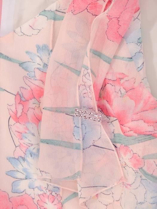 Sukienka z szyfonu, luźna kreacja w kwiaty 29815