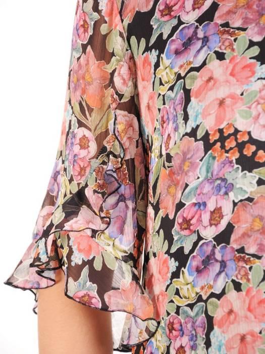 Sukienka z szyfonu, zwiewna kreacja w kwiaty 29522
