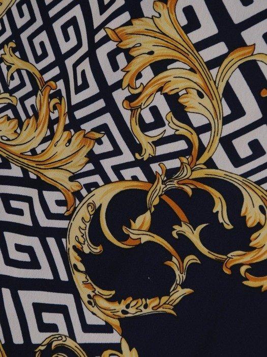 Sukienka z szyfonu, zwiewna kreacja z falbanami 25437