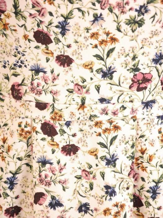Sukienka z tkaniny, zwiewna kreacja w kwiaty 29956