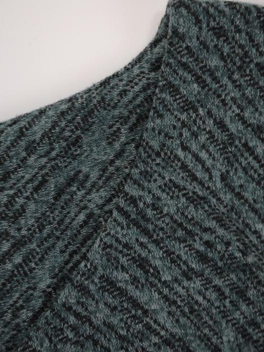 Sukienka z wyszczuplającym wzorkiem, zielona kreacja na jesień 23173