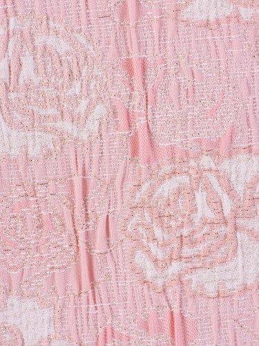 Sukienka z żakardowej dzianiny Margarita II, pastelowa kreacja ze złotym zdobieniem