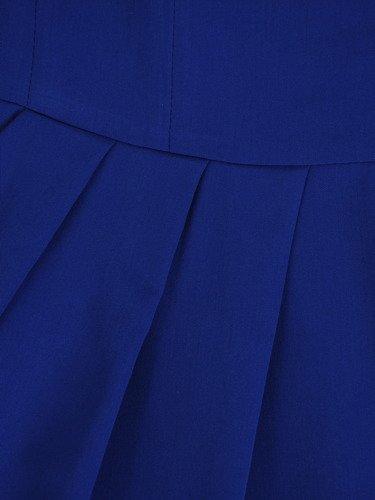 Sukienka z zakładkami Łucja I, elegancka kreacja z efektownym marszczeniem.