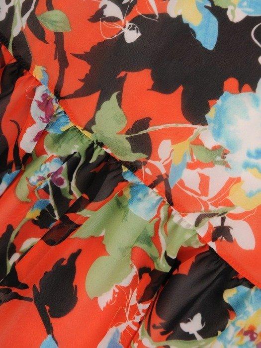 Sukienki z falbanami, zwiewna kreacja z szyfonu 25563