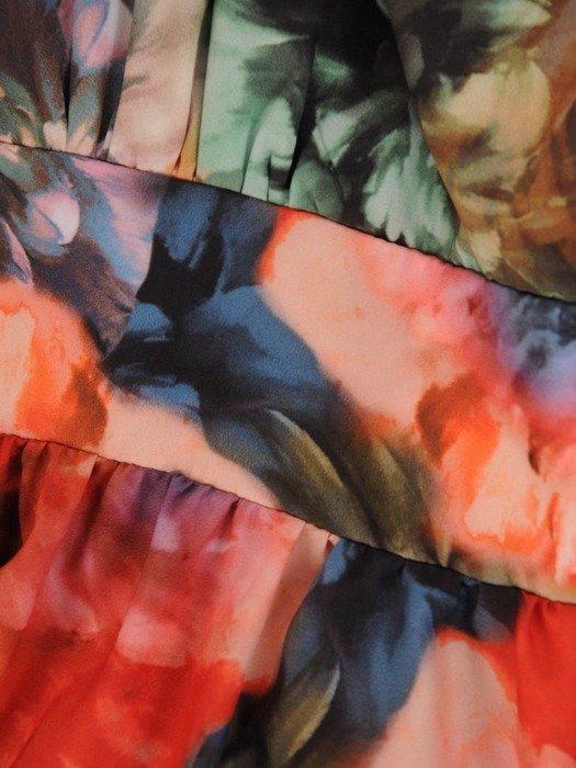 Suknia kopertowa, długa kreacja w kwiaty 25600