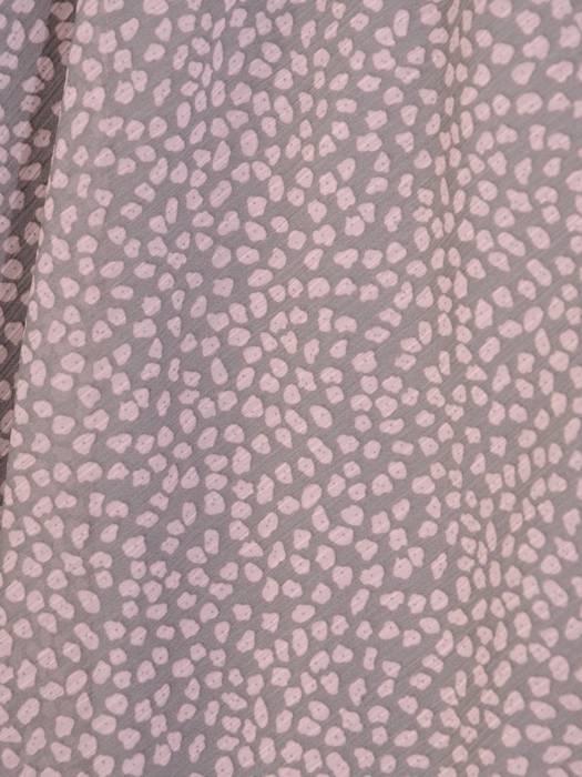 Szyfonowa, grafitowa sukienka maskująca niedoskonałości 30011